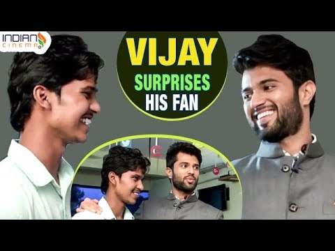 Vijay Devarakonda Surprises His Fan | Arjun Reddy Telugu Movie Craze | Indian Cinema
