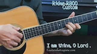 I AM THINE, O LORD | Guitar Nhật Rider R800 Custom | Guitar Nhât cũ giá rẻ