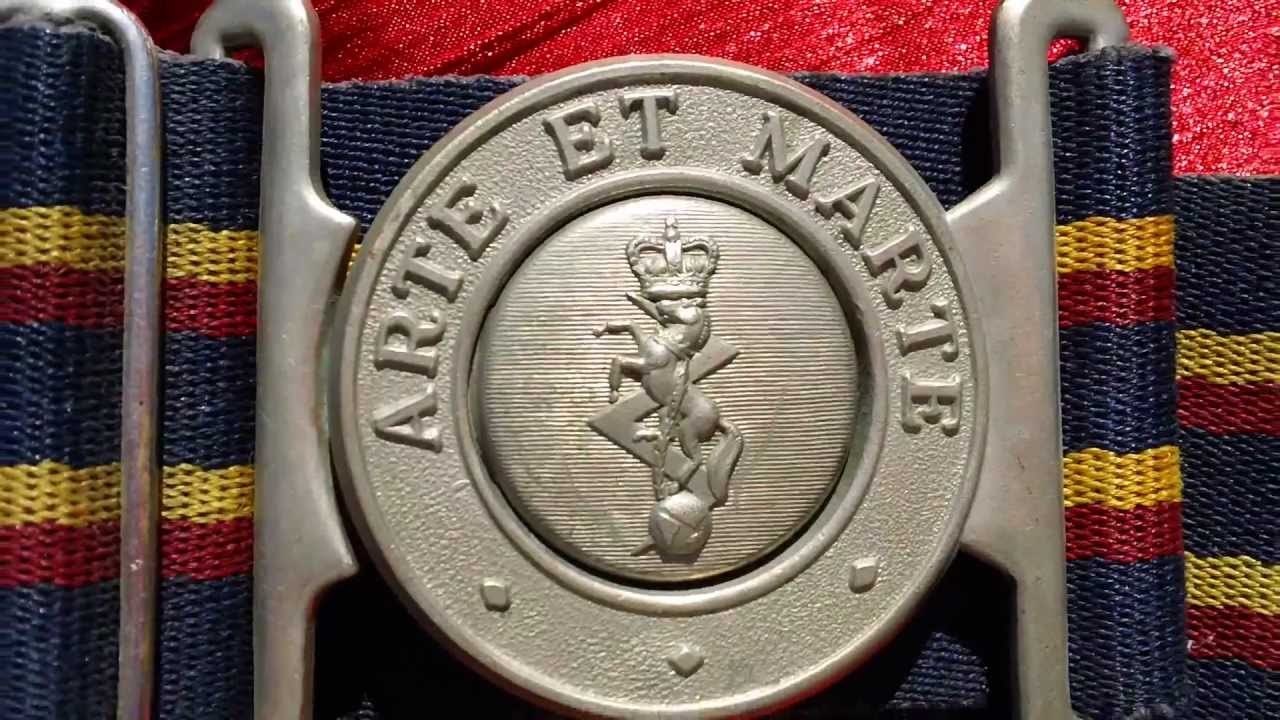 Arte Et Marte Dimicandum Ww2 British Art Et Marte Belt Belt Buckle