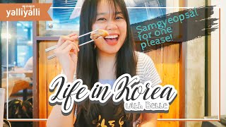 Life in Korea with Belle: Samgyeopsal for one please! (Trying Samgyeopsal HonBap for the first time)