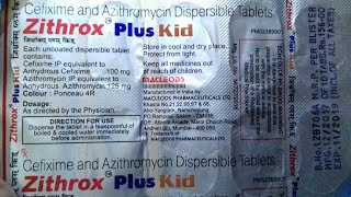 Zithrox Plus - Kid tablet ( Best Antibiotic for Typhiod Fever ) Use and side effect Hindi Reviews