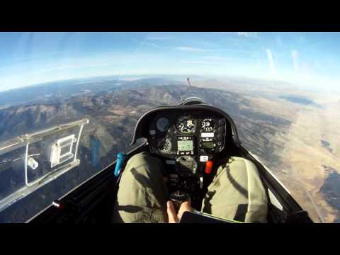 Minden Soaring Jan 2012 1st wave flight glider Nevada