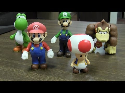 Super Mario 5 inch Fire Mario Action Figure Banpresto