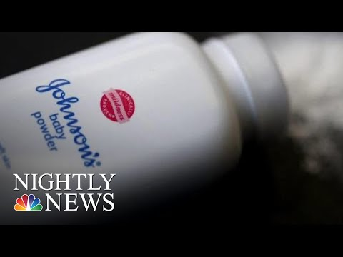 JNJ Reportedly Knew For Decades That Some Tests Found Small Of Asbestos In Its | NBC Nightly News