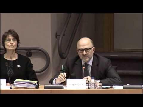 Audition par Dominique Martin des commissaires Thyssen et Moscovici