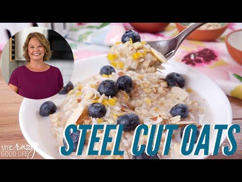 Steel Cut Oats with Blueberry Lemon Zest