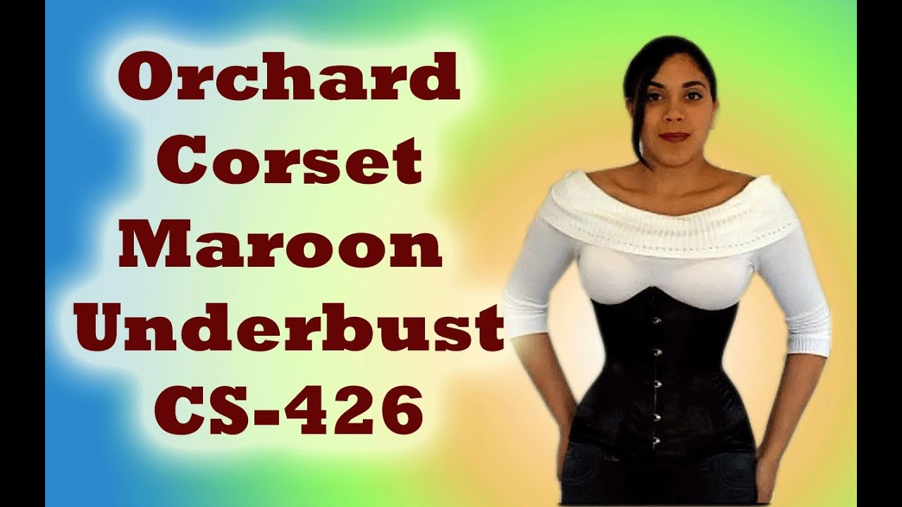 34b08e4030 Orchard Corset Maroon Underbust (CS-426) Review