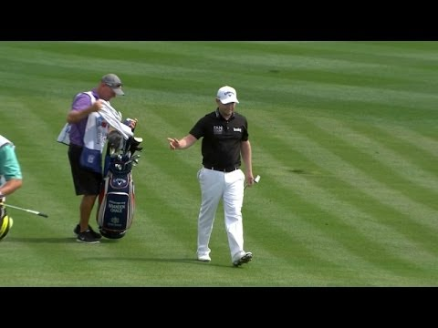 Branden Grace uses a Texas wedge to make eagle at Valero