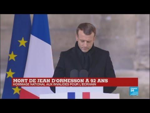 REPLAY - Discours d Emmanuel Macron en hommage à Jean d Ormesson ... 025cf87fe47a