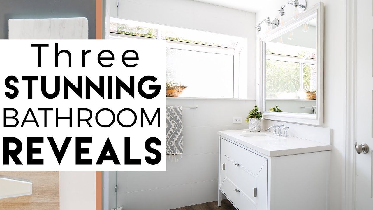 Interior design del mar reveal 7 3 bathroom makeovers for Youtube bathroom remodel