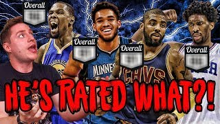 REACTING TO THE LEAKED NBA 2K18 RATINGS!