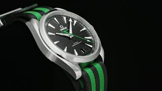 "The OMEGA Seamaster Aqua Terra ""Golf"" (in green)"