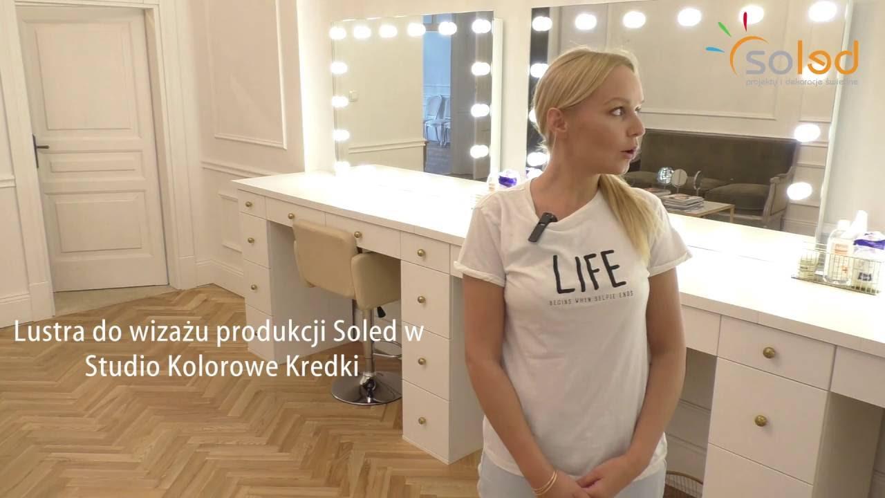 Modish Opinia o firmie SOLED - lustra z żarówkami do wizażu - Kolorowe WZ96