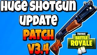 FORTNITE V3.4 PATCH NOTES | RIP PURPLE TACTICAL - HUGE Shotgun Changes - Guided Missile and More