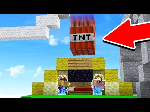 NOOBS DROP MASSIVE TNT ON MINECRAFT PROS! (Minecraft Trolling)
