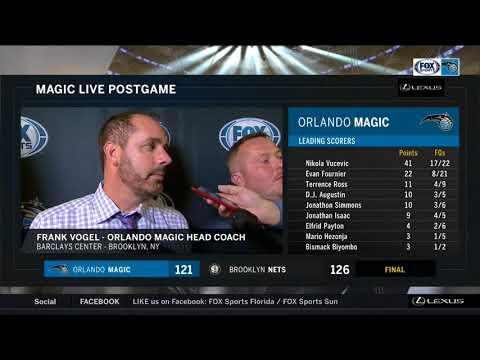 Frank Vogel -- Orlando Magic at Brooklyn Nets 10/20/2017