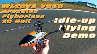 dutchrc wltoys v950 entry level 3d helicopter idle up flight demo