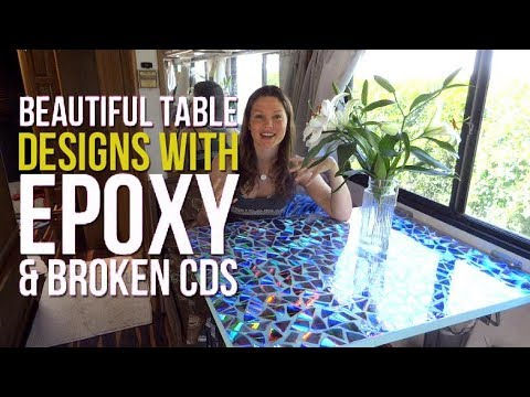 Diy Rv Renovations Make A Beautiful Table With Epoxy And