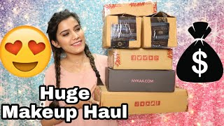😍Huge 20,000+ Rs. Makeup Haul Ft. Nykaa Sale, Amazon, Myntra | High End  Makeup  | Super Style Tips