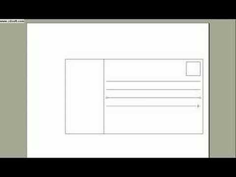 how to make a postcard on word