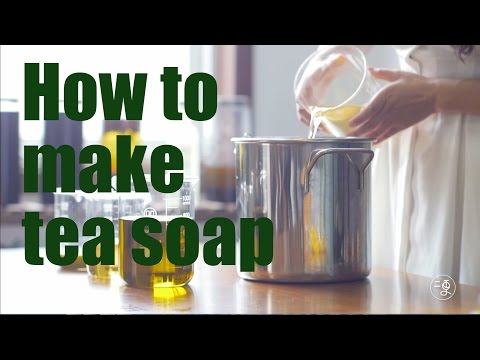 [soap]How to make Chinese green tea soap  More China
