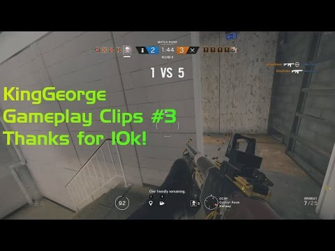 KingGeorge Gameplay Clips #3 Thanks for 10k subs! 1v5 1v4s Aces much more!