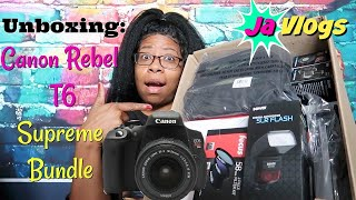 UNBOXING CANON REBEL T6 SUPREME BUNDLE