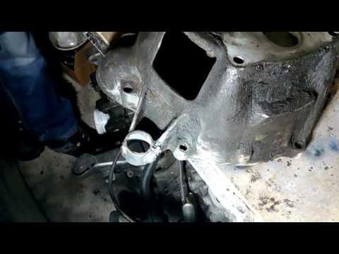 Volvo 940. Приварка уха цилиндра сцепления.