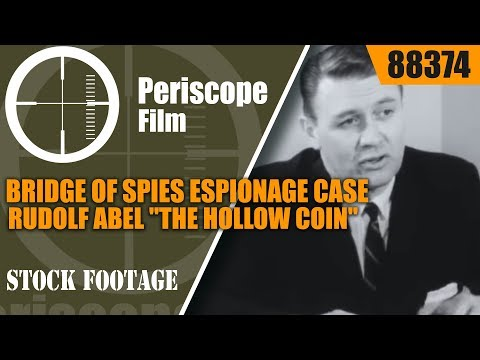 "BRIDGE OF SPIES ESPIONAGE CASE  RUDOLF ABEL  ""THE HOLLOW COIN"" FBI 88374"
