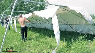 TENTON.pro - большие шатры для мероприятий. Сборка. Обзор.