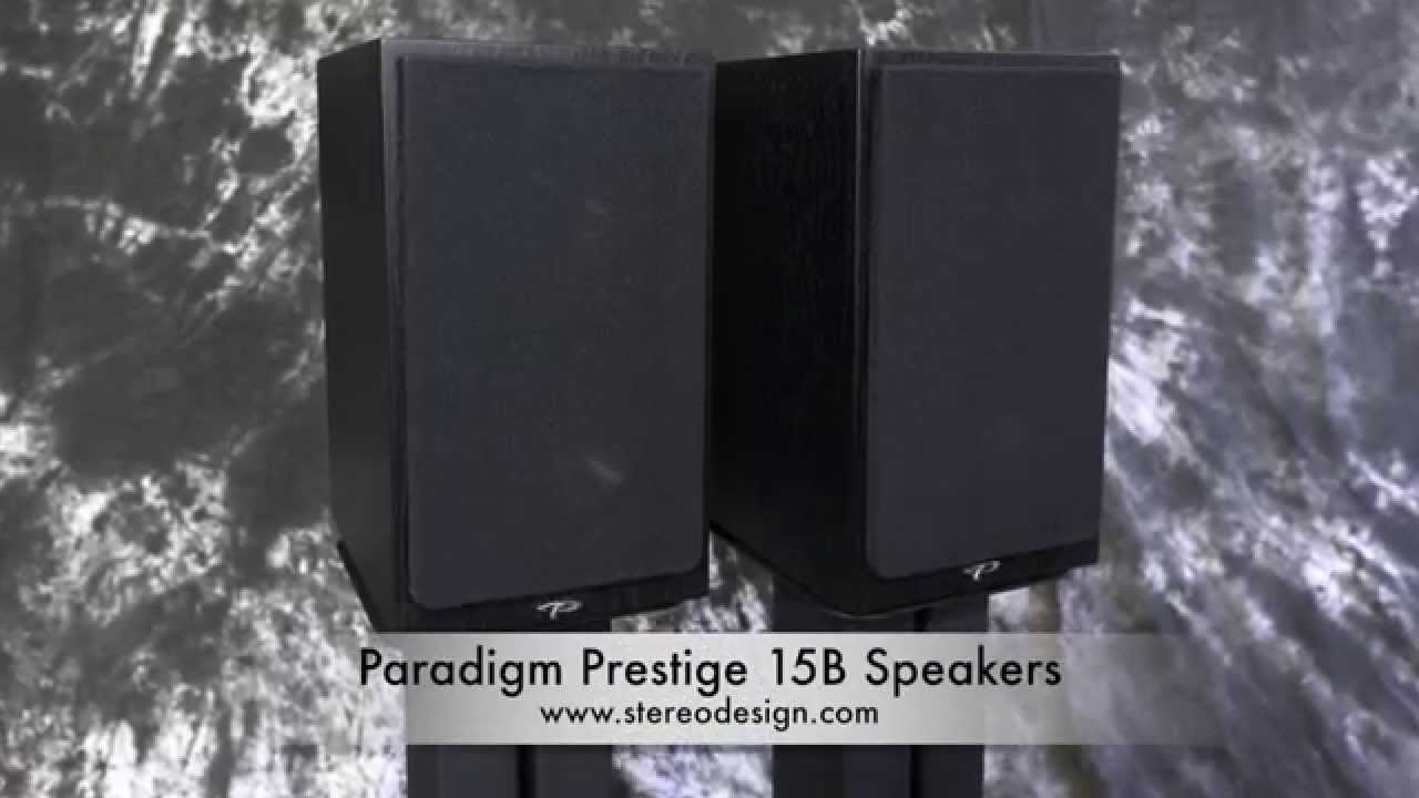 Stereo Design Paradigm Prestige 15B Bookshelf Speakers 2015