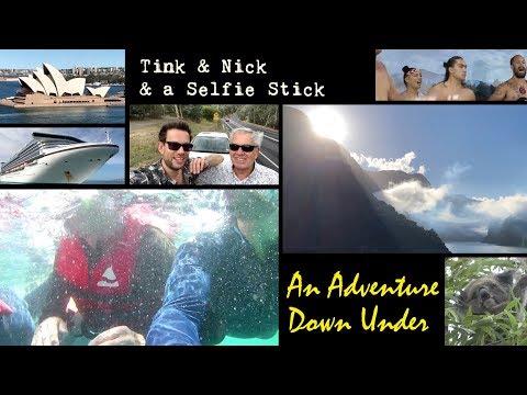 Tink & Nick & a selfie stick 2 - Imagine Cruising Australia & New Zealand On The Golden Princess