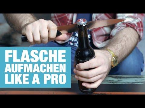 10 Wege eine Flasche zu öffnen OHNE Flaschenöffner