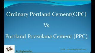 Which cement is better OPC or PPC | Difference in OPC & PPC | OPC vs PPC | Er. Raghvendra