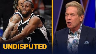 Skip Bayless throws away his Kawhi shoes after Clippers