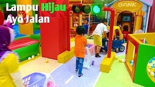 Bermain Di Playground Mall - Naik odong odong dan bermain troli belanja mainan anak