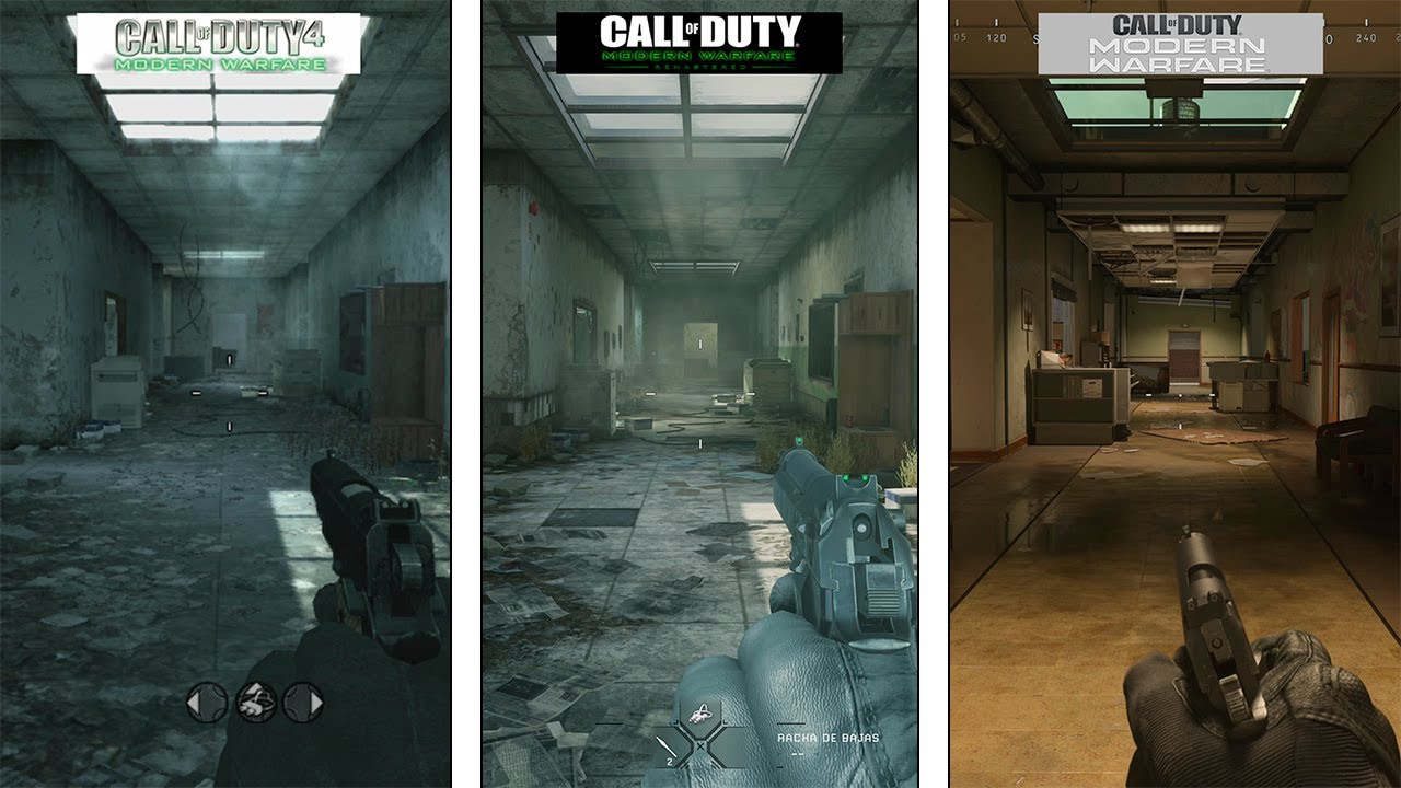 Call Of Duty Modern Warfare Vacant Map Evolution 2007 2016