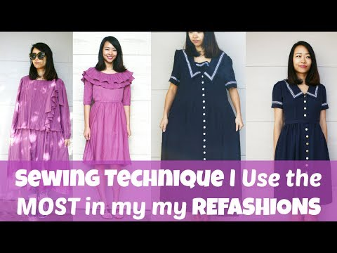 SEWING TECHNIQUE I USE THE MOST IN MY REFASHIONS | Beginner Sewing Lesson