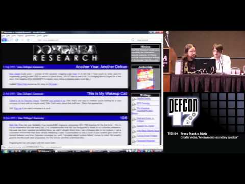 DEF CON 17 - Charlie Vedaa and Anonymous - Proxy Prank o Matic