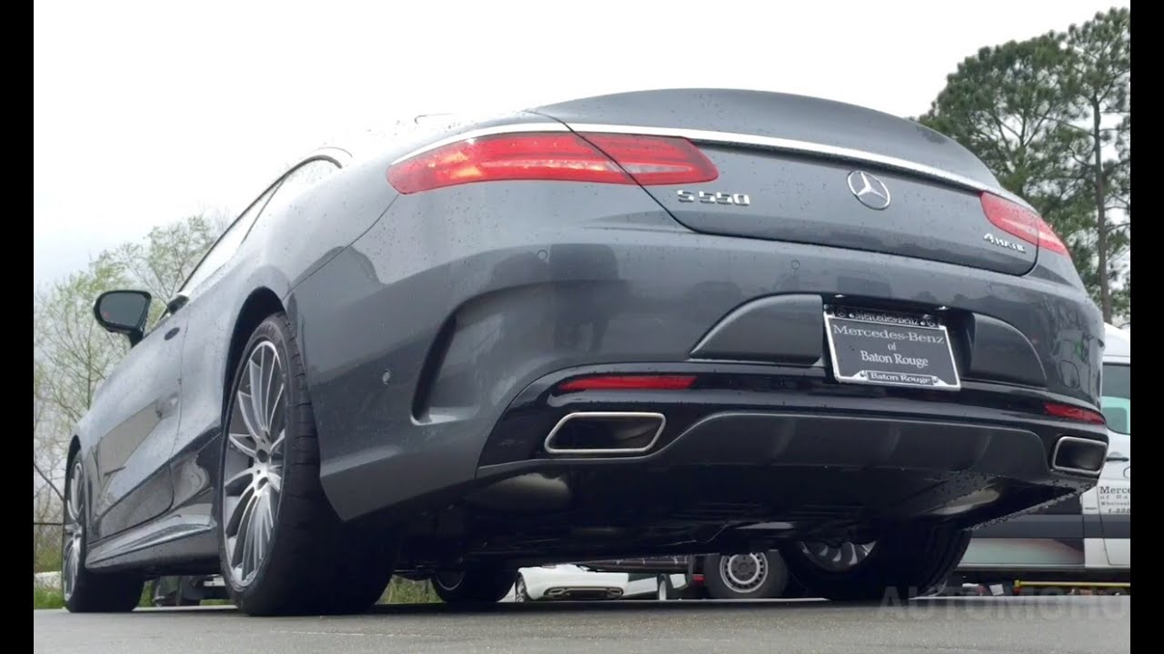 sound 2016 mercedes benz s550 coupe exhaust start up short drive youtube