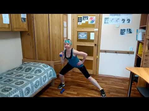 Домашний фитнес- клуб. Гантели 1. Табата. Упражнения для мышц рук, ног и ягодиц!