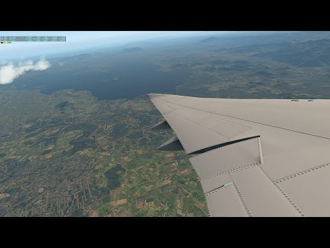 Descending to Suriname -  SBRF to SMJP with SSG 747-800 x-plane 11