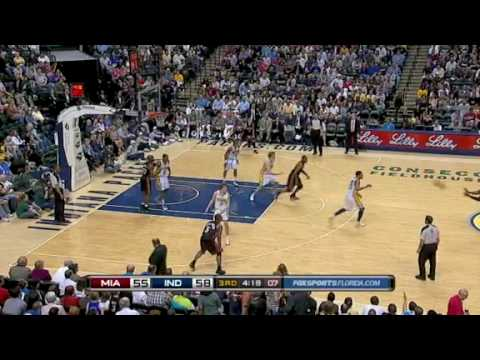 Miami Heat vs Indiana Pacers (105 - 96) April 3, 2010