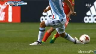 """رياضة  بالفيديو.. كوريا تضرب الأرجنتين بهدف """"ماركة ميسي"""""""