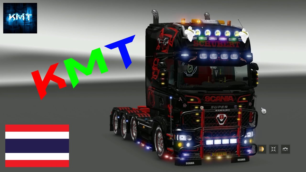 [Thailand] Euro Truck Simulator 2 MOD Scania R Tuning packs [RJL] 1.27.xx - YouTube