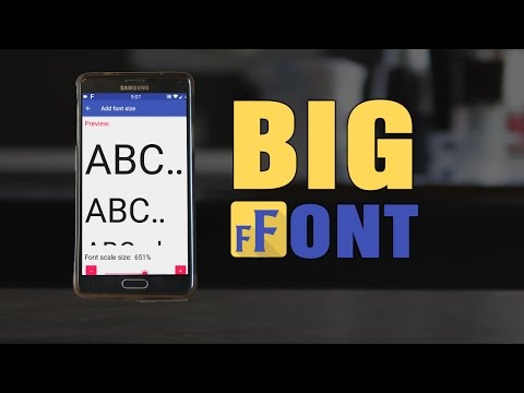 Big Font (change font size/display size) - Apps on Google Play