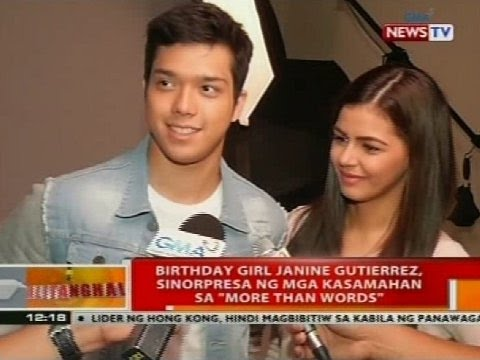 Birthday Janine Gutierrez, sinorpresa ng mga kasamahan sa 'More Than Words'
