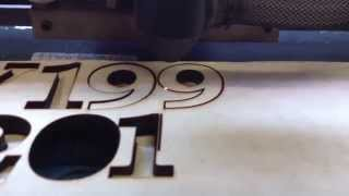 Chinese 40w laser cutting letters out of 5/16