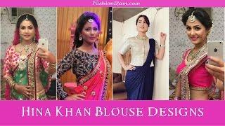 Hina khan (Akshara) Sarees & Blouse designs - Yeh Rishta Kya kehlata hai