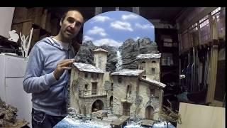 tutorial come realizzare un cielo come sfondo per presepe e diorama